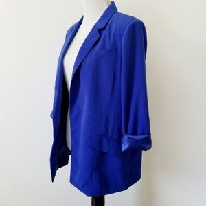 Forever 21 Jackets & Coats - Forever 21 Electric Blue Padded Blazer